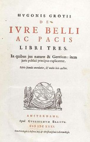 """Grotius publishes """"On the Law of War and Peace"""