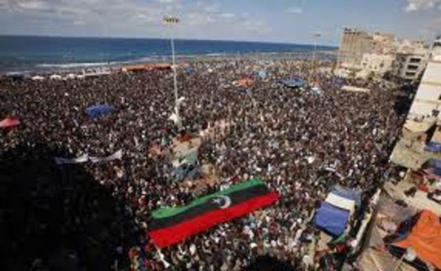 Libyan Protests Begin