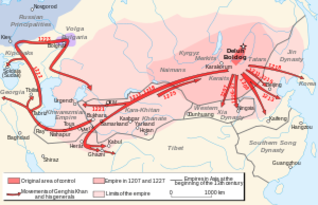 Genghis Khan Conquers Parts of Asia