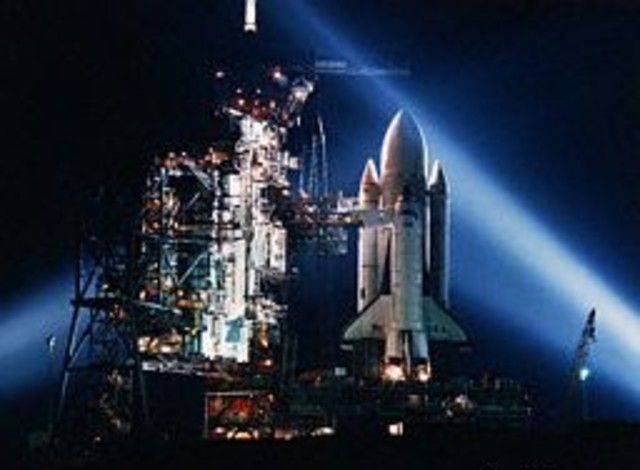 The first spaceshuttle space flight