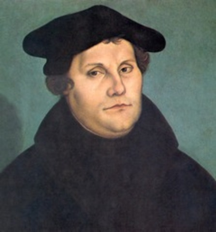 Martin Luther posts his 95 Thesis