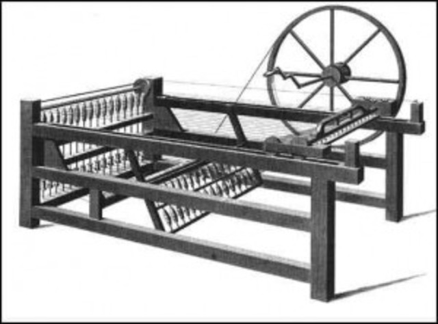 The first spinning machine was pantented in England