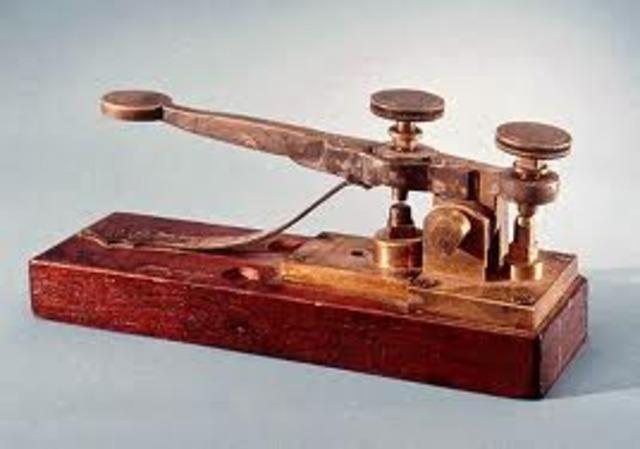 Morse demonstrates electriv telegraph