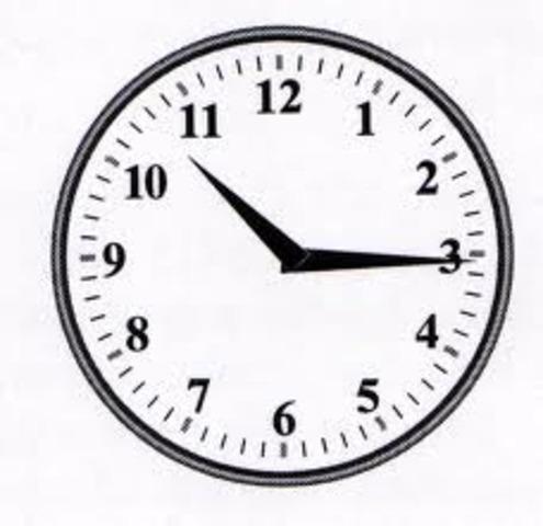 first electric clock