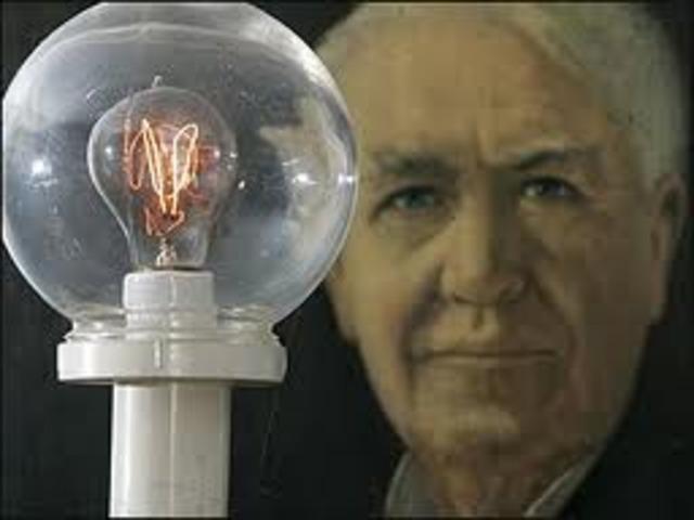Edison invents lightbulb