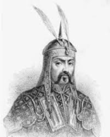 Christened Genghis Khan