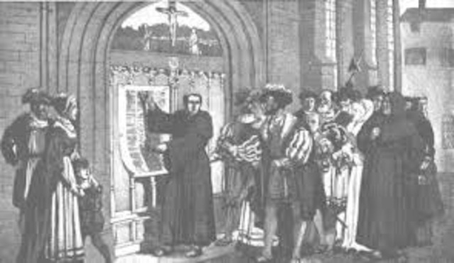 Martin luther posts hid 95 Thesis