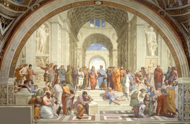 Rapheal paints School of Athens