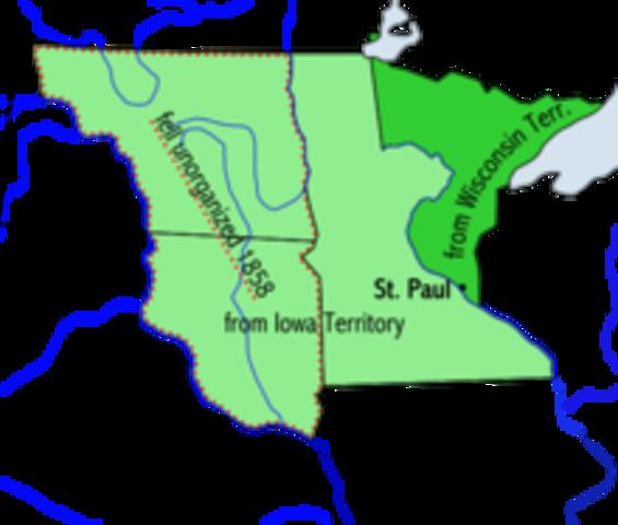U.S Congress creates Minnesota territory