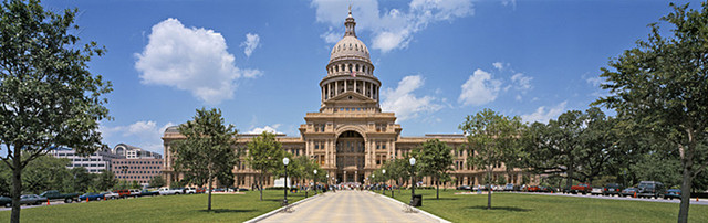 The Texas State capitol building was opened to the public.