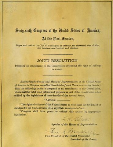 19th ammendment ratified in Minnesota
