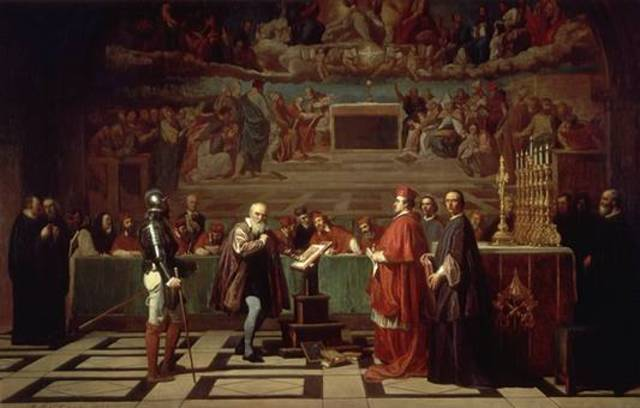 Pope prosecutes Galileo for promoting sun-centered theory of the solar system.
