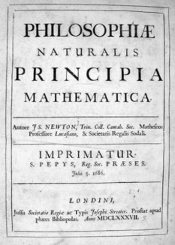 Newton publishes Philosophiae Naturalis Principia Mathematica