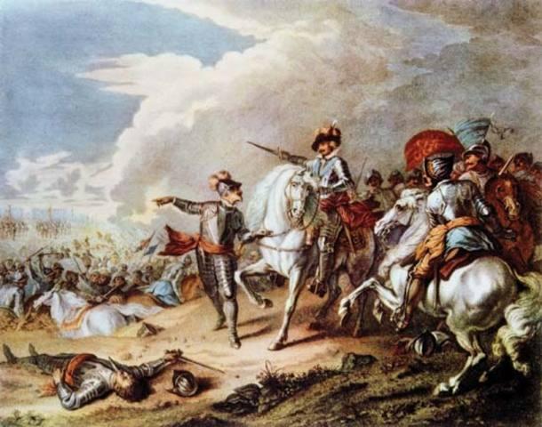 English Civil War overthrows Charles I, installs Cromwell
