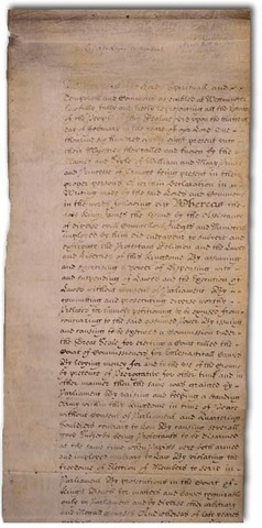 English Bill of Rights drafted
