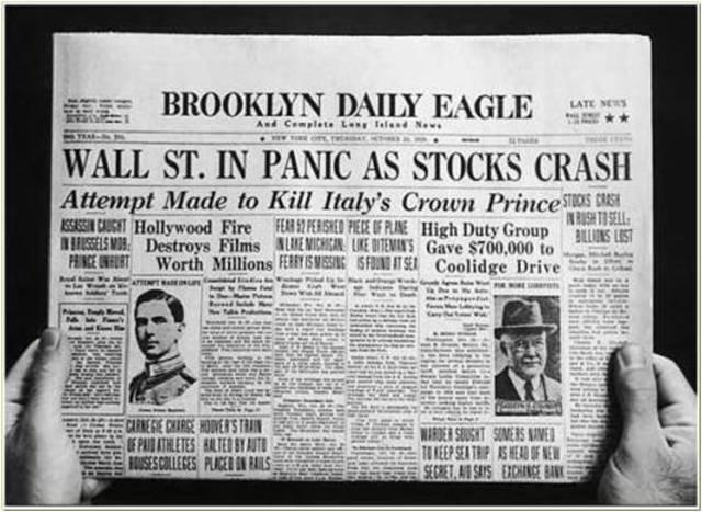 Balck Tuesday - Stack Market Crash