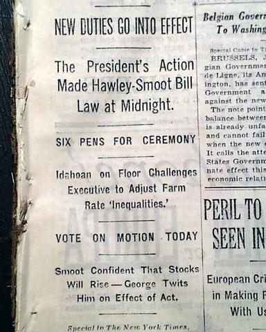 Hawley-Smoot Tariff