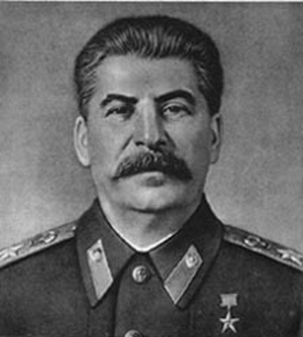 Josef Stalin sole dictator of the Soviet Union (USSR.)