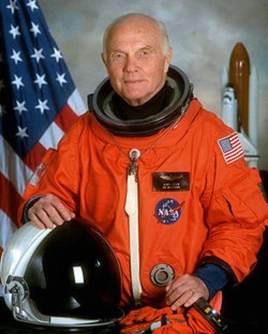 John Glenn was the first man to orbit the earth