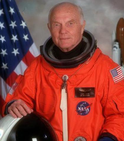 John Glenn First man to orbit Earth
