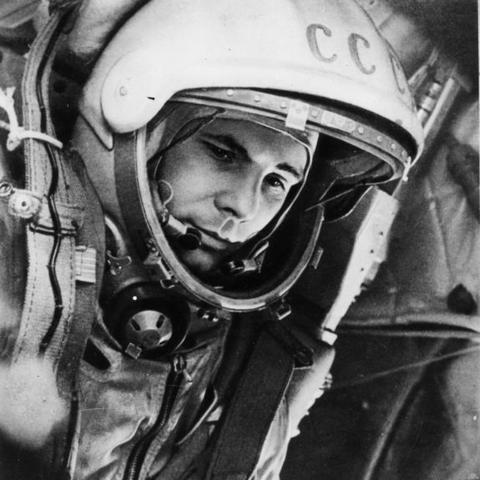 Yuri a gagarin was the first man to go up in space
