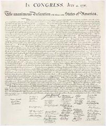 The Delaration of Independece