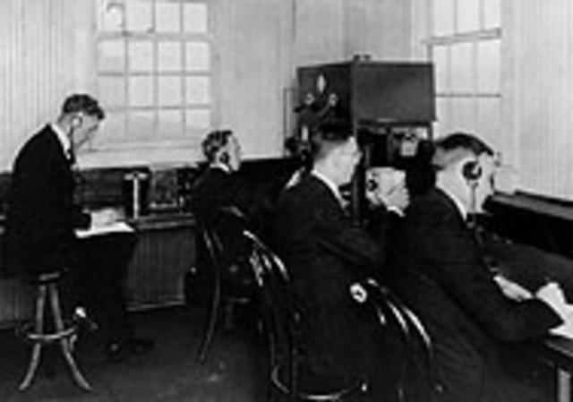 First regular radio prodcasts