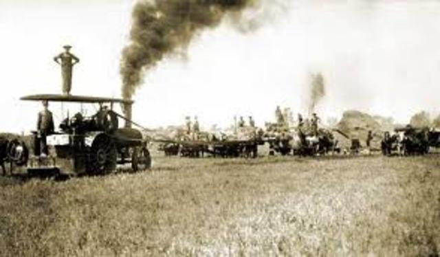 The threshing machine is invented