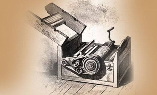 Eli Whitney invents the cotton gin.