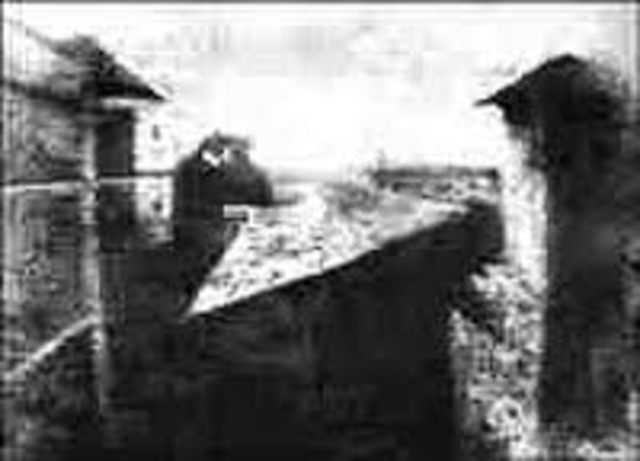 The first photographs are produced