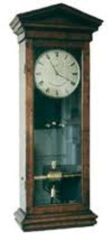 The first electric clock is designed