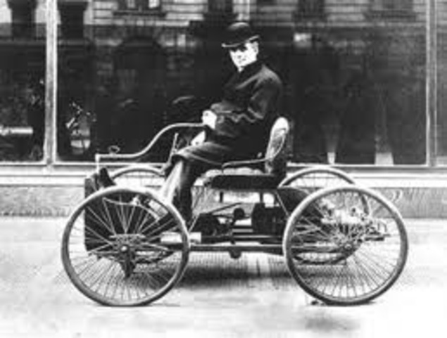 Henry Ford builds his first automobile