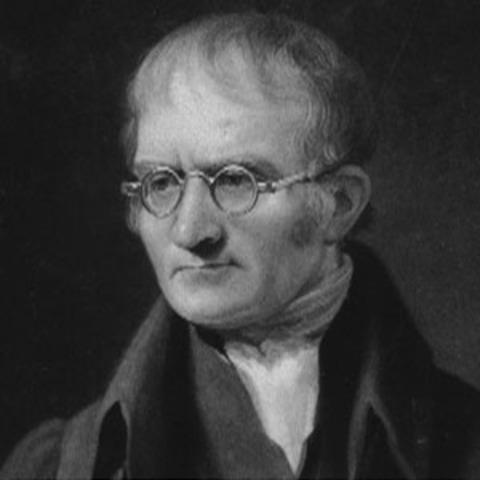 John Dalton defines his atomic theory.