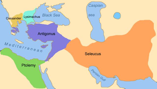 Seleucus I Nicator, 320 nominated for satrap of Babylon