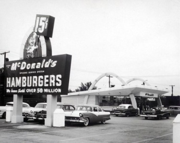 McDonald's first drive thru