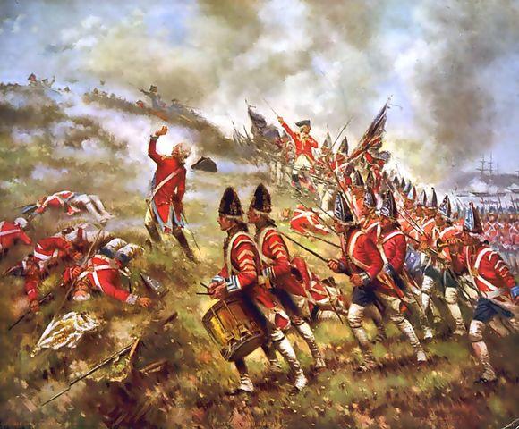 Battle of bunker hill (Breeds Hill)
