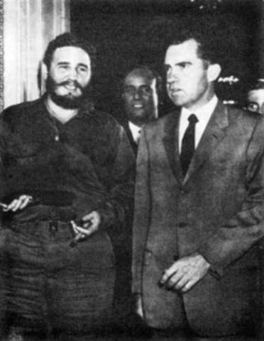 Castro visits the U.S.