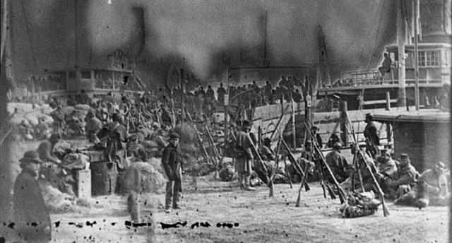 Armies moving South towards Virginia