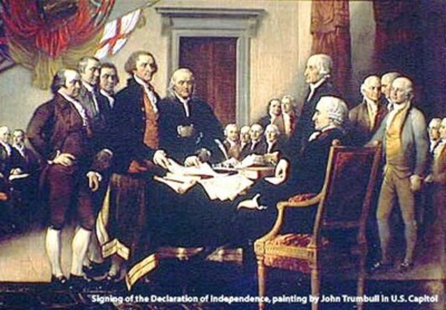 British makes Peace with americans in Treaty of Paris