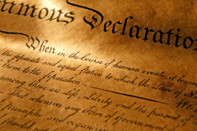 Famous Decleration of Independence