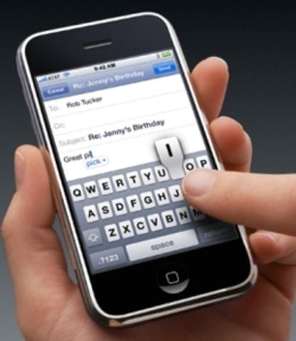 First SMS sent