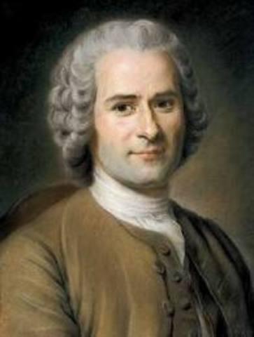 Publicación de L´Emile y Du contrat social por Rousseau