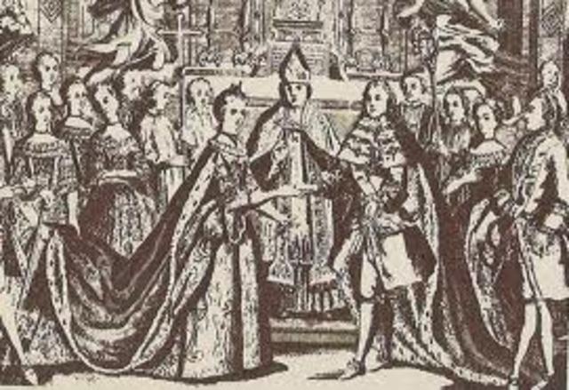 Boda del Delfín con María Antonieta. Bancarrota Parcial del Estado.