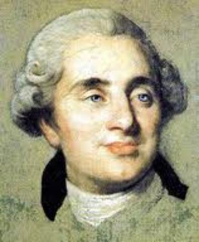 Muerte de Luis XV. Subida al trono de Luis XVI.