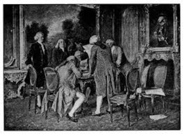 Paz de París entre Francia, Inglaterra y las colonias Americanas.