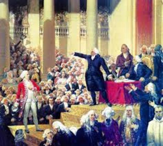 Sesión Real en el parlamento de Paris: El rey acepta la convocatoria de los Estados Generales.