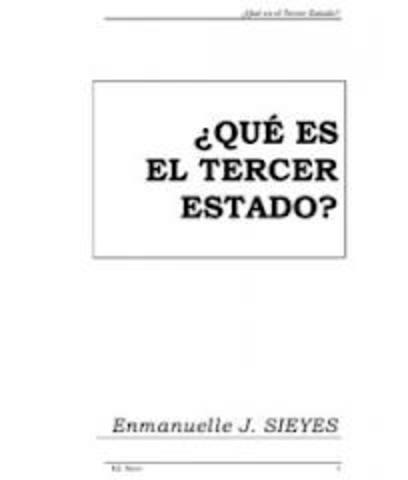 Publicación del opúsculo de Sieyès ¿Qué es el Tercer Estado?