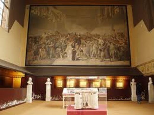 Juramento del Juego de la Pelota, los diputados de la Asamblea Nacional juran en Versalles no separarse hasta haber dotado a Francia de una Constitución.
