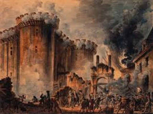 Toma de Bastilla en París.
