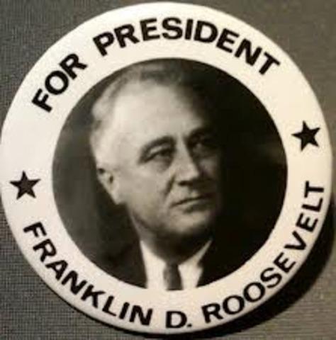 Franklin D. Rosevelt elected President